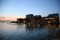 Salmisaari, Helsinki (VisaStenvall) Tags: helsinki suomi finland summer evening sunset sun water sky clouds night lights canon eos 6d 24105mm f4l is usm salmisaari buildings yit