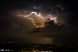 Lightning on swiss mountains