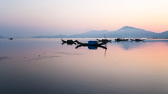 Tam Giang morning (Asian Hideaways Photography) Tags: lagoon morning boats sea seascape sunrise landscape