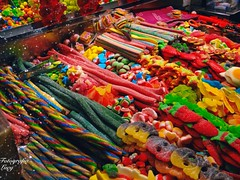 Sugar in the Boqueria market. (habanera19) Tags: caramelo candy sugar delicioso sabores metcadolaboqueria colores españa food cataluña barcelona market
