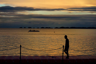 Philippines, sunrise time near the hundred islands