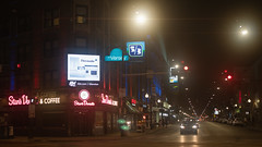 Clark & Diversey (Jovan Jimenez) Tags: anamorphic flare lowcon cinematic sony alpha a6500 6500 ilce canon 40mm f28 stm optical night chicago street intersection clark diversey city lights filter 53rdbank stardonuts hotelversey