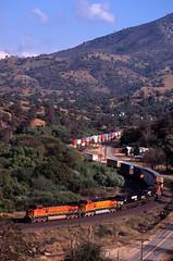 BNSF 5283 Woodford 04/17/2004 (Ray C. Lewis) Tags: railroad trains railfanning tehachapi mojavesubdivision freight trainchasing transportation