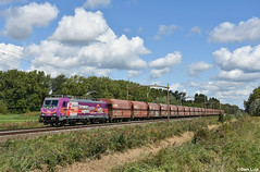 HSL 186 383, Dordrecht Zuid, 7-9-2018  13:06 (Derquinho) Tags: hsl 186 383 logistik traxx purple paars paarse dordrecht zuid vtg kolentrein saar kohlenzug emo laag water laagwater 42599 rotterdam maasvlakte dillingen coal train bombardier european logistics together