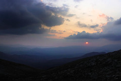Sunset in Tymfi (1 of 1) (EdenYavin) Tags: nature greece tymfi sunset red sky burning clouds cloudscape landscape hiker trip mountain hill mountainsrange sun