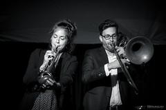 Laurianne et Matthieu (OKTOPUS) (guysamsonphoto) Tags: guysamson portrait musicien musician trompette trombone bw noiretblanc monochrome isoélevé highiso