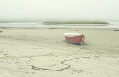 (amy20079) Tags: nikond5100 maine newengland ocean saltwater boat sand beach shore moody fog foggy