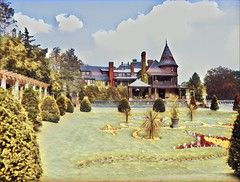 Sonnenberg Gardens & Mansion ~ Historic Park ~ Canandaigua NY - Paint Effect (Onasill ~ Bill Badzo - 56 Million Views - Thank Yo) Tags: sonnenberg gardens mansion historic park canandaigua ny ontario county onasill nrhp queen anne architecture historical building interior fireplace moose victorian style finger lakes house turrets sky clouds outdoor garden country paint effect tone