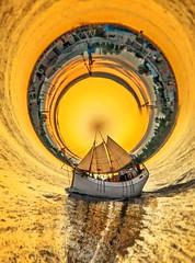Sailing away (Matt Bigwood) Tags: boat tinyplanet small world circular distortion tallinn estonia