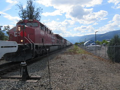 Here it is (jamica1) Tags: cpr canadian pacific railway railroad locomotive diesel salmon arm shuswap bc british columbia canada train