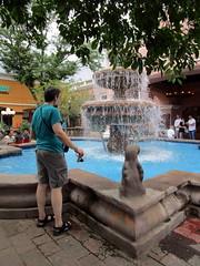 Joseph Checking Out the Fountain (BunnyHugger) Tags: casabonita colorado denver fountain joseph mexican restaurant