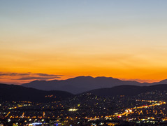 Relaxing Time after Sunset - View from Lycabettus Hill, Greece (powertigervfx123) Tags: athens greece travel traveldestination tourism touristattraction nightscape scenic colors vivid contrast sunset clouds nature relaxation panorama city night lights