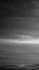 moon (Darek Drapala) Tags: mood moon nature evening sky skyskape sunset bw blackwhite blackandwhite panasonic lumix light