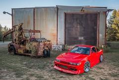 (Paul Mackay Photographie) Tags: nikon nikond800 wideangles flash red buildings pocketwizards silvia nissan cars