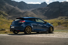 Renault Megane 3 RS Blue Extreme (lu_ro) Tags: megane 3 rs blue extreme renault coupe gavia pass mountain alps bormio french
