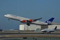 OY-KBD A340 Scandinavian Airlines (eigjb) Tags: ksfo sfo san francisco international airport california usa jet transport airliner aircraft airplane aviation plane spotting 2018 aeroplane airbus oykbd a340 scandinavian sas airlines