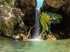 Do you believe in the perfectness of where you are? (1946pixels) Tags: gopro spain summer river nature adventure málaga waterfall goprohero discovering wild españa andalucía