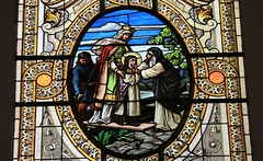 Kalocza Cathedral - Hungary (Stained Glass) (6)(F) (Richard Collier - Wildlife and Travel Photography) Tags: stainedglass stainedglasswindow stained churchwindows kaloczacathedral hungary