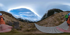 Mt. Cook 360 Image Test (Matt Champlin) Tags: 360 360degrees sphericalimage sphere vr newzealand mtcook test testing gopro fusion hiking adventure