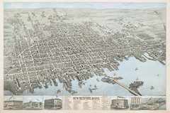 View of the city of New Bedford, Mass., 1876 (State Library of Massachusetts) Tags: bristolcounty massachusetts newbedford birdseyeview map aerialview