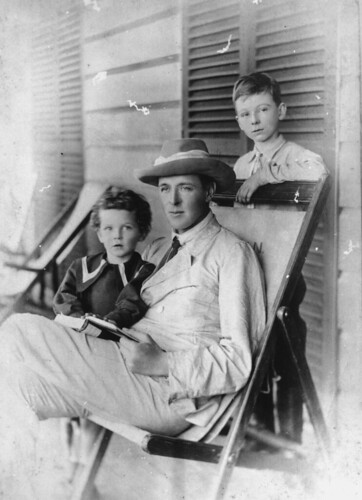 Governor Chelmsford with his two sons at Gabbinbar, 1907
