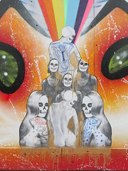 hello the mushroom (Claudelondon) Tags: london croydon streetart risegallery