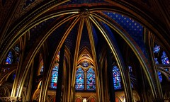 Piece of art (vincentag) Tags: paris france church sainte chapelle ceiling windows