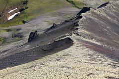 Earth (hó) Tags: slope grímsfjall landscape wilderness snæfellsnes iceland august 2018 moss snow mountain ridge