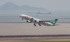 EVA AIR A330-300 B-16333 Sanrio Characters 003 (A.S. Kevin N.V.M.M. Chung) Tags: aviation aircraft aeroplane airport airlines a330 plane spotting macauinternationalairport mfm a330300 airbus takeoff runway hellokitty speciallivery