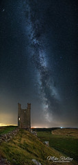 The Tower ... (Mike Ridley.) Tags: milkyway night nightphotography nightscene astrophotographer astrophotography sonya7s samyang24mmf14 lilburntower dunstanburghcastle northumberland mikeridley panorama vertorama