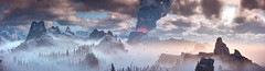 Horizon Zero Dawn (Matze H.) Tags: horizon zero dawn frozen wilds complete edition panorma volcano clouds sun mountains lightning playstation 4 pro photo mode ingame graphic screenshot ice 4k uhd