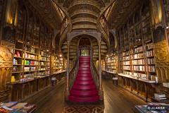 Librairie Lello, Porto (Portugal) (Lanarius) Tags: porto librairie portugal librairielelloetirmão librairielello harrypotter livrarialello livrariachardron stairs stair escalier escaliers red