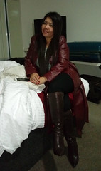 Dressed for Dinner Out (johnerly03) Tags: erly philippines asian filipina fashion leather coat long hair knee high heel boots