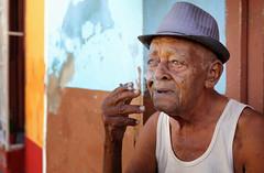 Cuba 2018 (mauriziopeddis) Tags: cuba caribe caraibi face viso portrait ritratto portraits ritratti people smoke fumo tribal trinidad island revolution fidel che color canon
