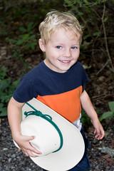 cowpoke (RubyT (I come here for cameraderie!)) Tags: pentaxkp da2040ltd child boy portrait cowboyhat smile grandson pentaxart