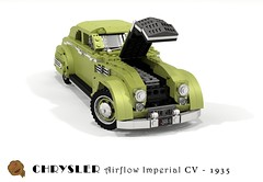 Chrysler Airflow Imperial Eight CV Coupe - 1935 (lego911) Tags: chrysler imperial airflow c2 cv coupe 1935 1930s classic vintage aerodynamic advanced auto car moc model miniland lego lego911 ldd render cad povray eight afol usa america chrome aero art deco artdecocars