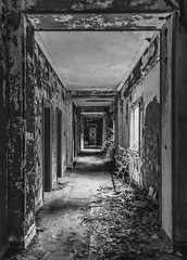 Enter In The Agony (panos_adgr) Tags: nikon d7200 hotel radion abandoned kamena vourla greece travel photography monochrome bw symmetry urban building interior windows doors hall decay walls texture room atmospheric photo