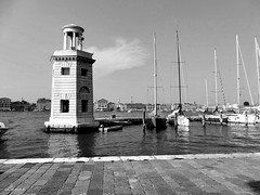 The marina in San Giorgio island (lamnn92) Tags: lighthouse marina sangiorgio island venice venezia castello skyline canal water boats sky clouds nature architecture blend building bw travel fz1000