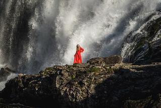 Dancing at the waterfall