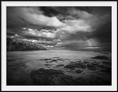 the infrared rainbow (Andrew C Wallace) Tags: rainbow ir infrared blackandwhite bw longexposure slowwater slowshutter thephotontrap olympusomdem5mk2 microfourthirds m43 ocean storm clouds cloudscape blowhole flinders victoria australia