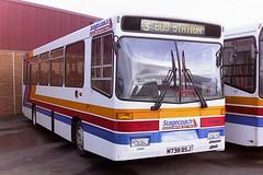 STAGECOACH WESTERN SCOTTISH KV338 M738BSJ (bobbyblack51) Tags: stagecoach western scottish kv338 m738bsj volvo b650 alexander dash nursery avenue depot kilmarnock 1995
