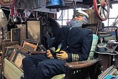 Old Sea Captain (AntyDiluvian) Tags: boston massachusetts northshore essex capeann antiques antiqueshop howardsflyingdragonantiques flyingdragon mannequin seacaptain uniform
