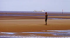 Another Place from another place (wontolla1 (Septuagenarian)) Tags: wednesdaywalk walking walk hiking hike crosby formby another place antony gormley statues figures cast iron beach sand water merseyside