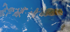 Indonesian Islands, variant (sjrankin) Tags: 20september2018 edited nasa iss iss056 iss056e173937 indonesia islands clouds