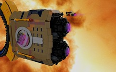 The Janus History, 1 (ORION_brick) Tags: ship shiptember janus mako rebel corporate ring warp jump pocket lego 100 studs star starship space spaceship tug war warship modular module render mecabricks edit edited contest nebula large huge engine drive