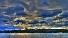 Windy winter weather I (Phone camera) (elphweb) Tags: hdr nsw australia phone phonecamera river water lake windy clouds skies sky