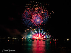 Firework Display Over Plymouth Harbour - British Firework Championships 2018 ( 'Pheonix Fireworks' ) (Peter Greenway) Tags: 2018 water colourful flickr fireworks nightphotography plymouth pyrotechnics britishfireworkchampionships colours pheonixfireworks fireworkdisplay reflections barbicnharbour 2018britishfireworkchampionships reflectedlight reflected pheonix excitement