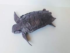 Loggerhead sea turtle (orig4mi.) Tags: loggerhead sea turtle origami paperfolding