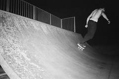 Walsingham half-pipe I (esmeelily) Tags: 35mm film analog lomo lomography grain ilford black white is dead skating skateboaring skateboard half pipe olympus trip af 50