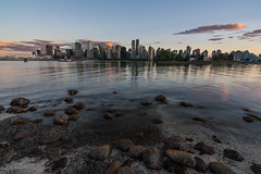 Panoramic view of beautiful Vancouver skyline and famous harbor area from stanley park in idyllic evening light at sunset in summer, British Columbia, Canada (tvrdypavel) Tags: america architecture bay bc beautiful blue britishcolumbia building business canada canadian city cityscape coastline downtown dusk evening harbor harbour landmark lights marina modern northamerica ocean office pacific panorama panoramic port reflection sea sky skyline skyscraper stanleypark summer sunrise sunset tourism touristattraction town traveldestination urban vacation vancouver water waterfront westcoast western